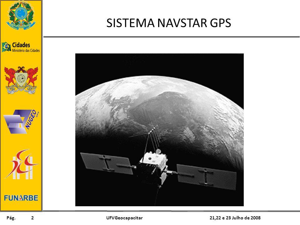 Pág. 21,22 e 23 Julho de 2008UFVGeocapacitar2 SISTEMA NAVSTAR GPS