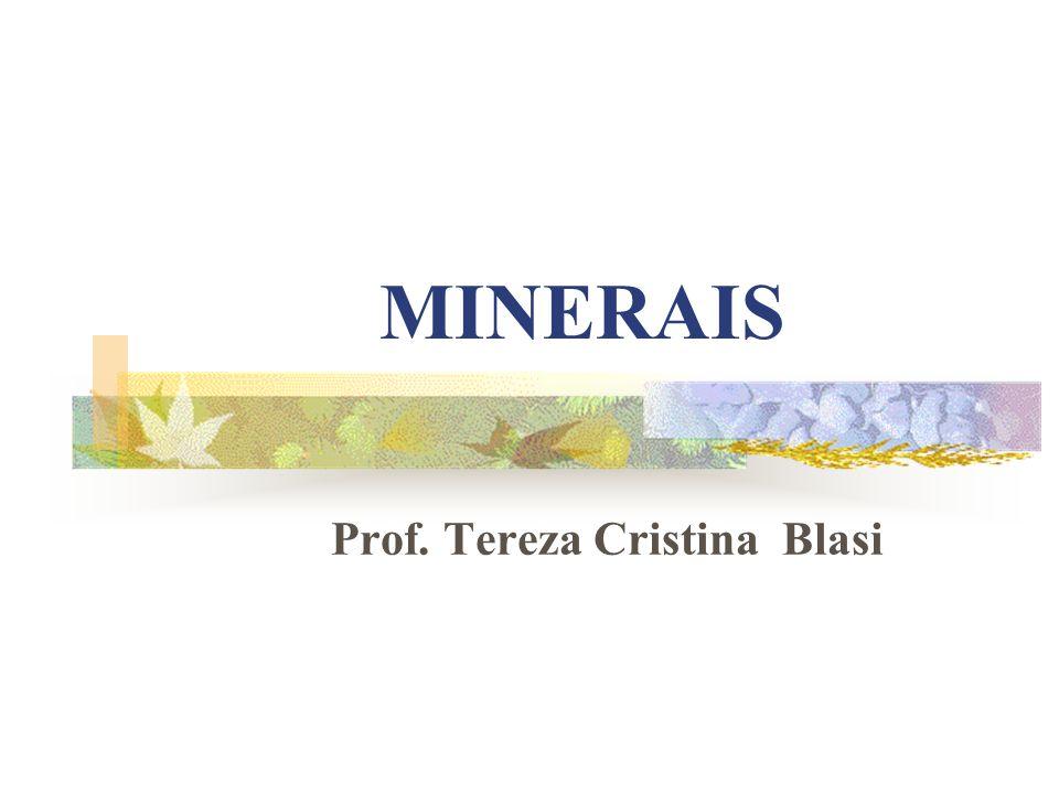 MINERAIS Prof. Tereza Cristina Blasi