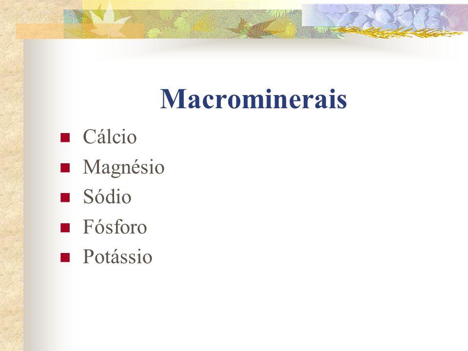 Fontes de cloro : sal, frutos do mar, leites, carnes e ovos.
