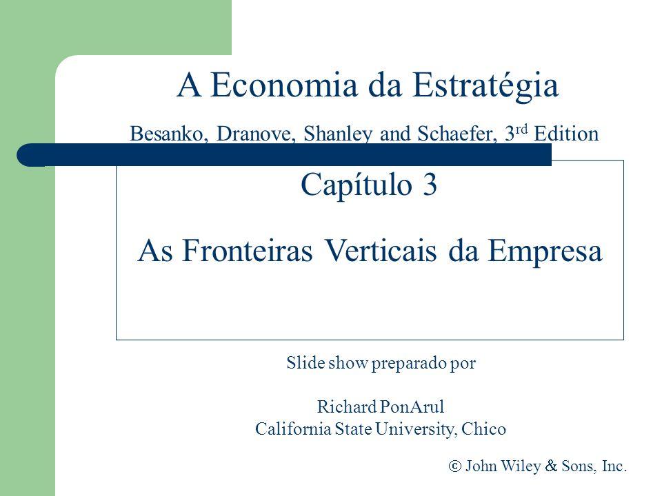 A Economia da Estratégia Slide show preparado por Richard PonArul California State University, Chico John Wiley Sons, Inc. Capítulo 3 As Fronteiras Ve