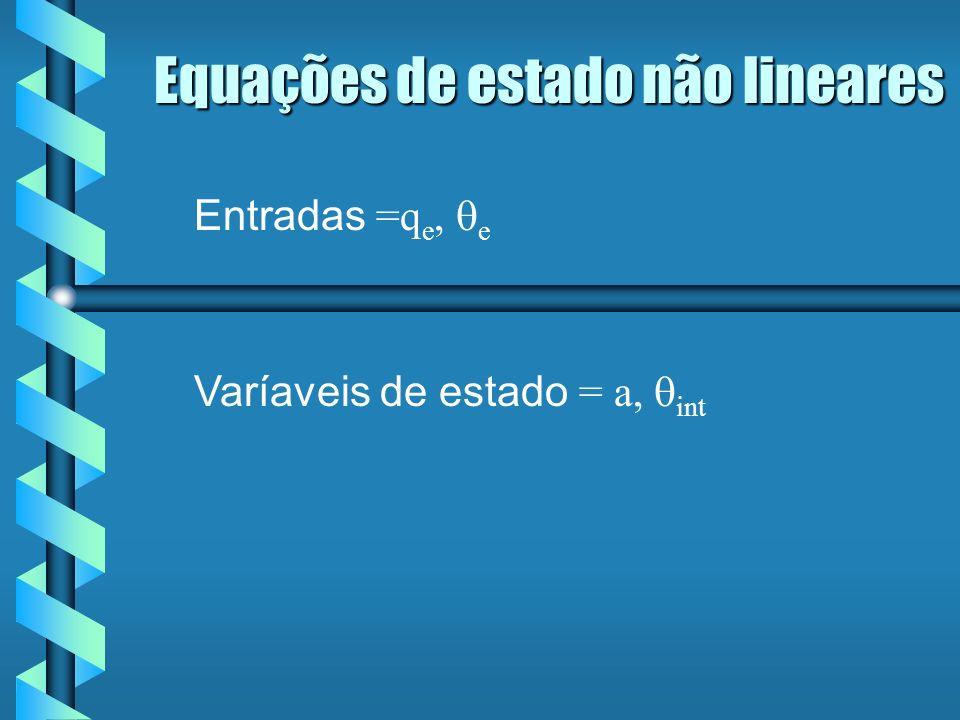 Entradas =q e, e Varíaveis de estado = a, int