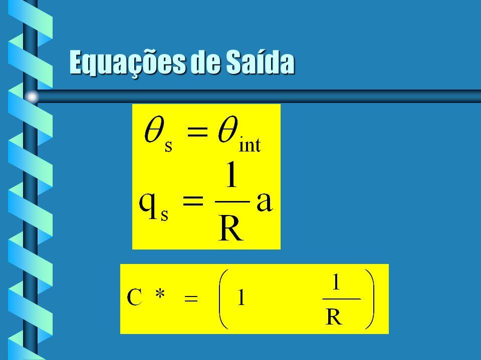 Equações de Saída