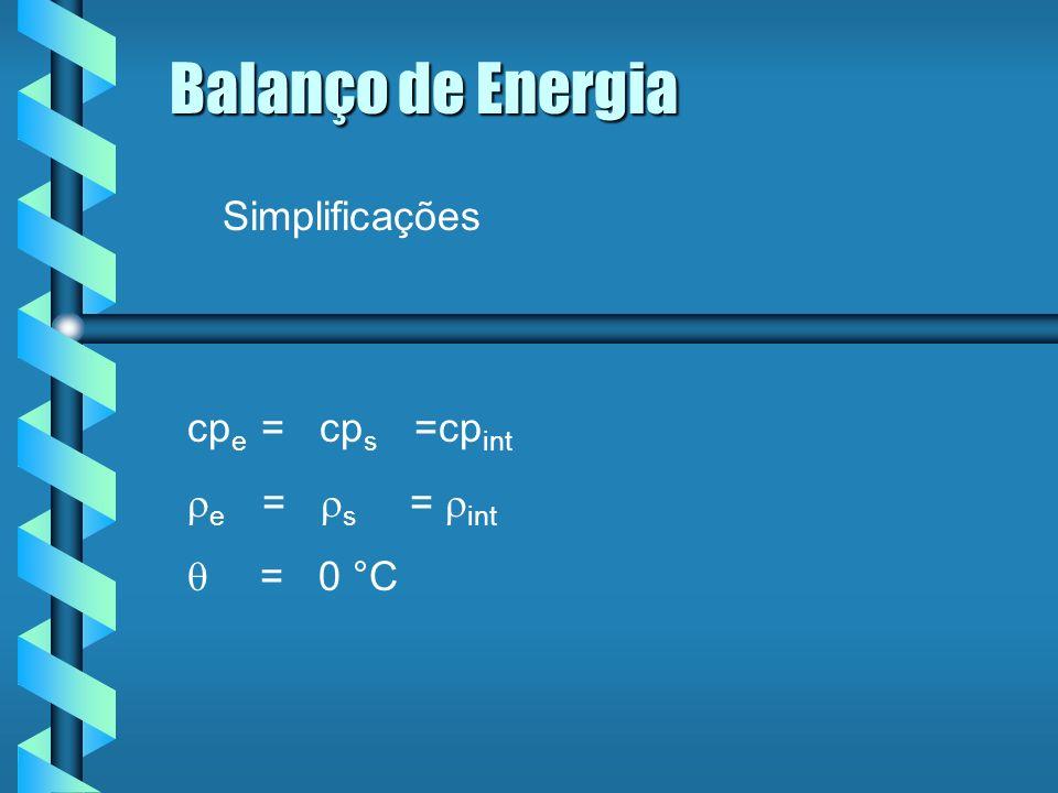 Balanço de Energia Para pequenas perturbações em int tem-se: