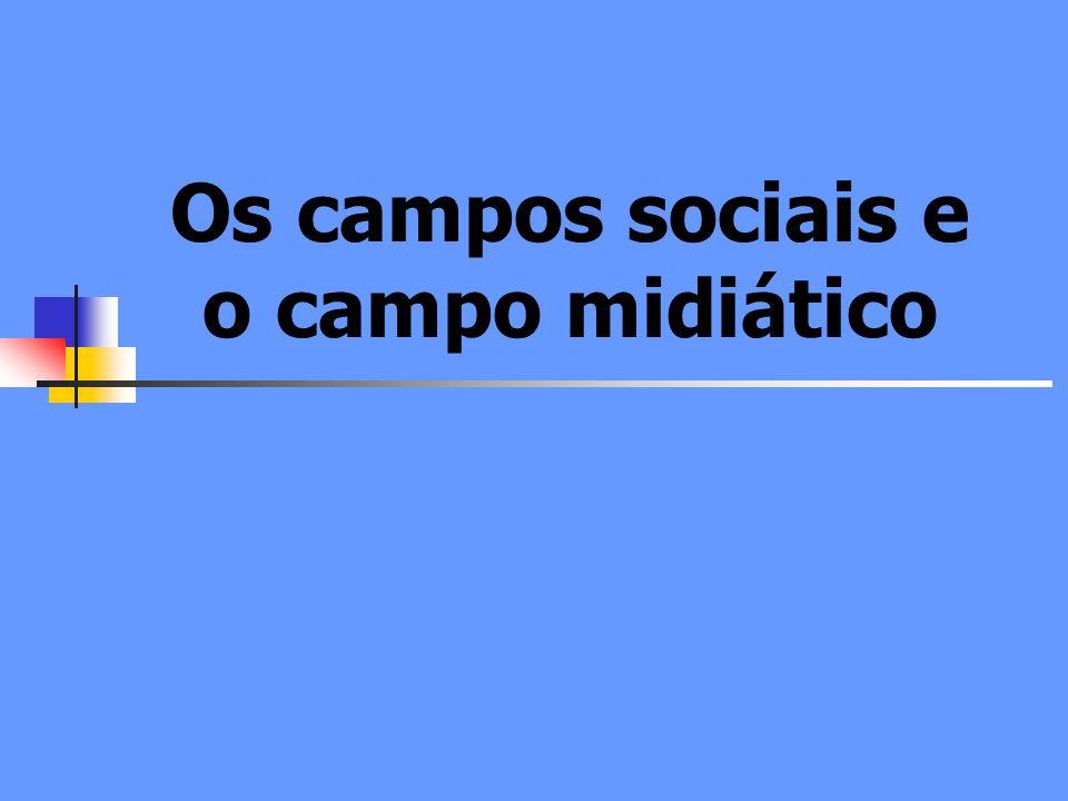 Os campos sociais e o campo midiático