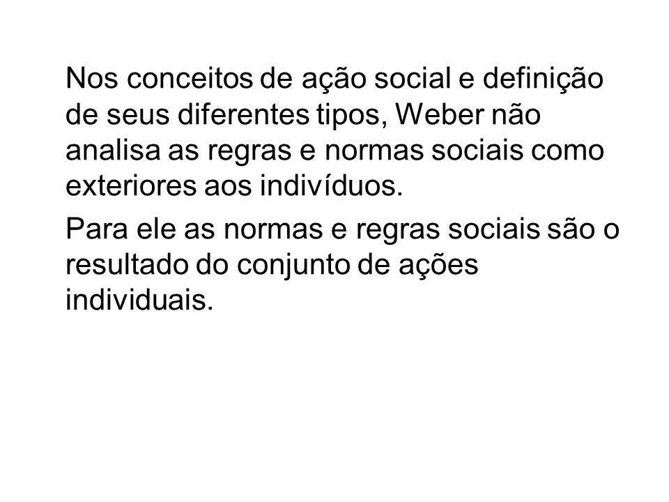 O método compreensivo, defendido por Weber, consiste em entender o sentido que as ações de um indivíduo contém e não apenas o aspecto exterior dessas mesmas ações.