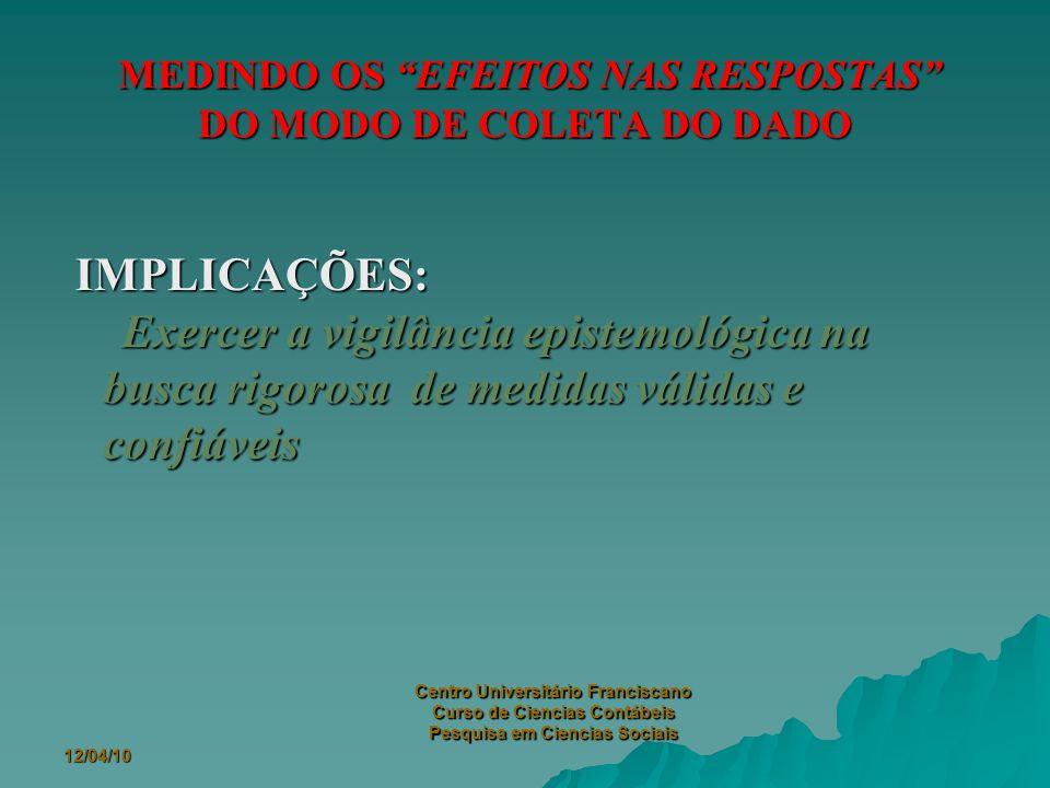 12/04/10 Centro Universitário Franciscano Curso de Ciencias Contábeis Pesquisa em Ciencias Sociais ATIVANDO ASPECTOS ESPECÍFICOS