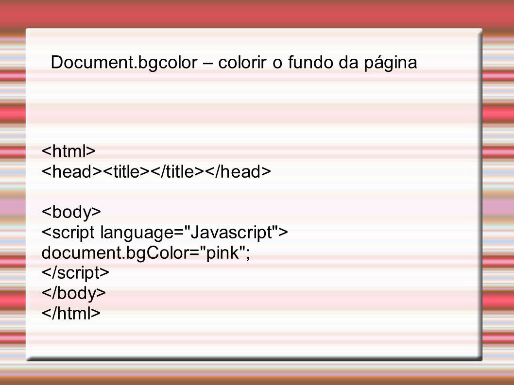 exercício usando variável var nome=window.prompt( Digite seu nome. , Nome ); alert( Olá +nome+ Seja Bem Vindo !!! ); Primeiro exercício em JAVA SCRIPT Window.prompt – caixa para digitar