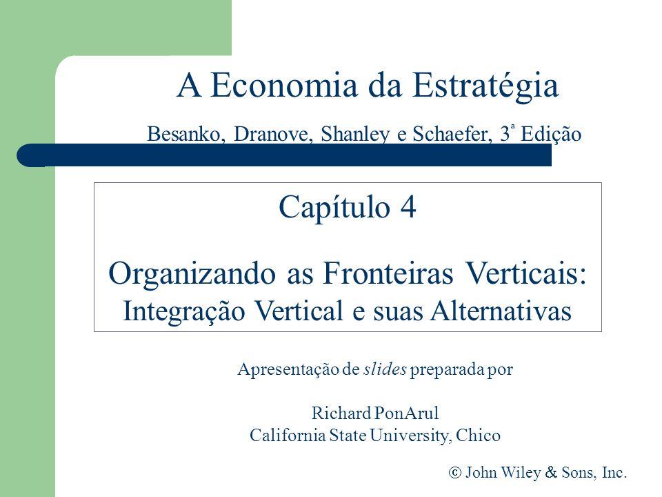 A Economia da Estratégia Apresentação de slides preparada por Richard PonArul California State University, Chico John Wiley Sons, Inc. Capítulo 4 Orga