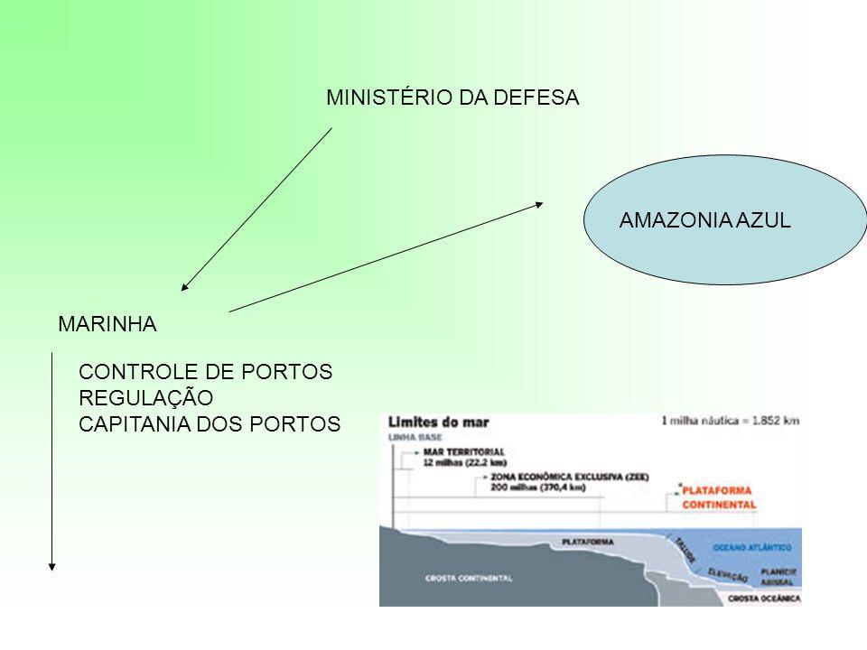 MINISTÉRIO DA DEFESA MARINHA CONTROLE DE PORTOS REGULAÇÃO CAPITANIA DOS PORTOS AMAZONIA AZUL