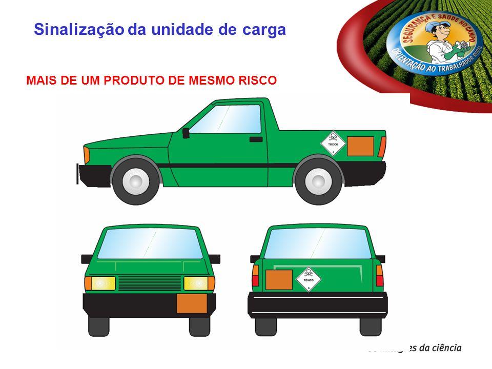 MAIS DE UM PRODUTO DE MESMO RISCO Sinalização da unidade de carga