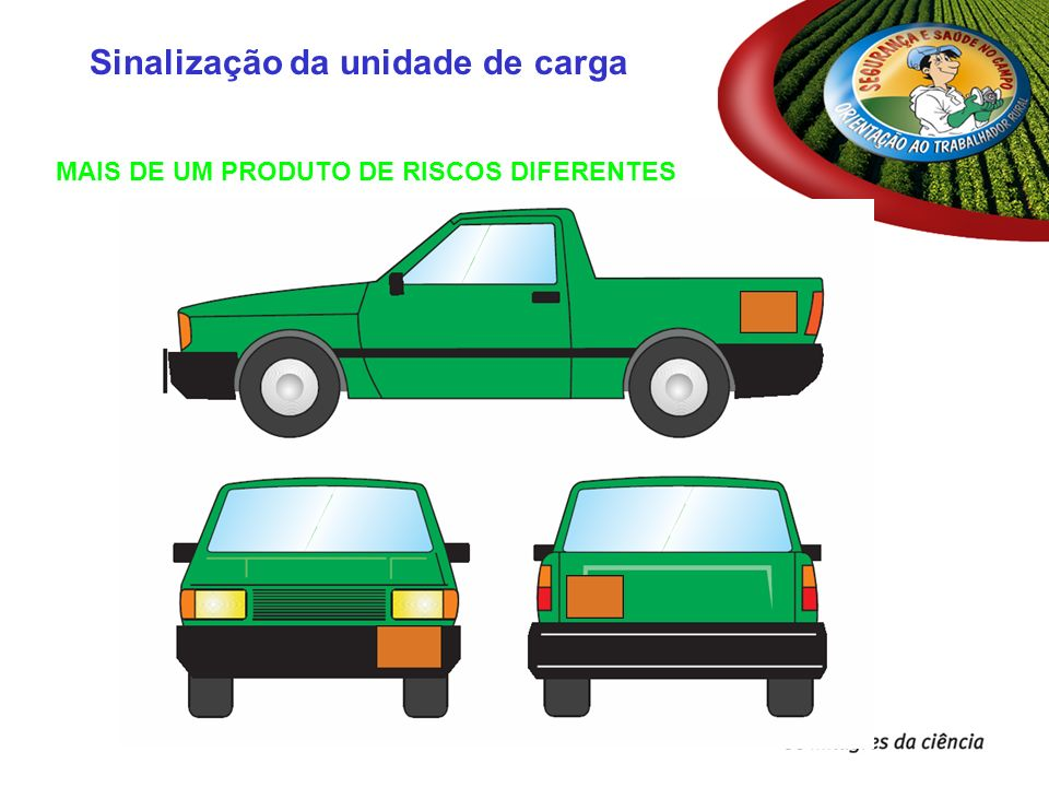 MAIS DE UM PRODUTO DE RISCOS DIFERENTES Sinalização da unidade de carga