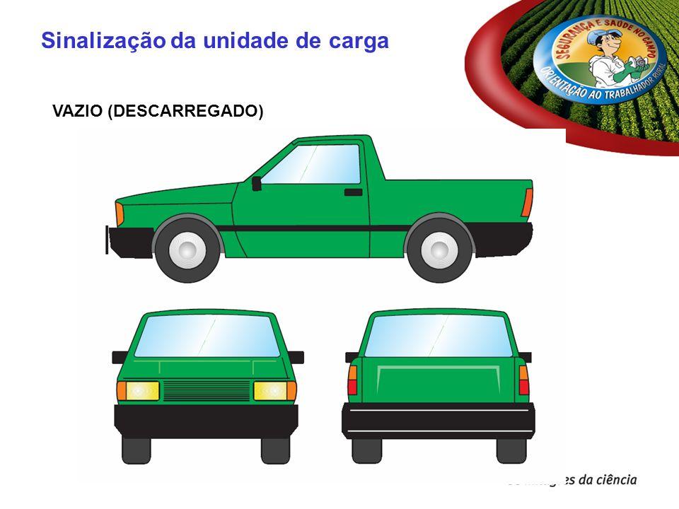 VAZIO (DESCARREGADO) Sinalização da unidade de carga
