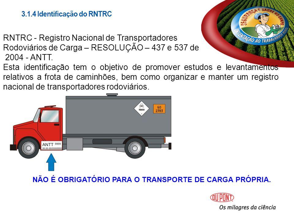 RNTRC - Registro Nacional de Transportadores Rodoviários de Carga – RESOLUÇÃO – 437 e 537 de 2004 - ANTT.