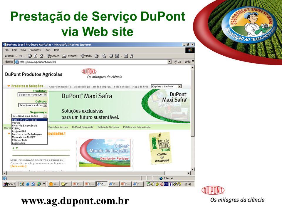 Prestação de Serviço DuPont via Web site www.ag.dupont.com.br