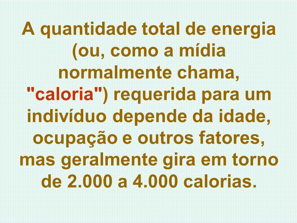 A quantidade total de energia (ou, como a mídia normalmente chama,