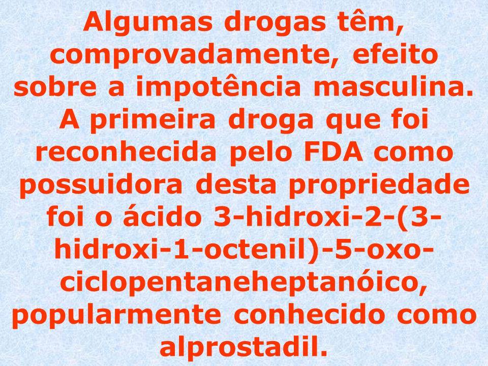 Algumas drogas têm, comprovadamente, efeito sobre a impotência masculina. A primeira droga que foi reconhecida pelo FDA como possuidora desta propried