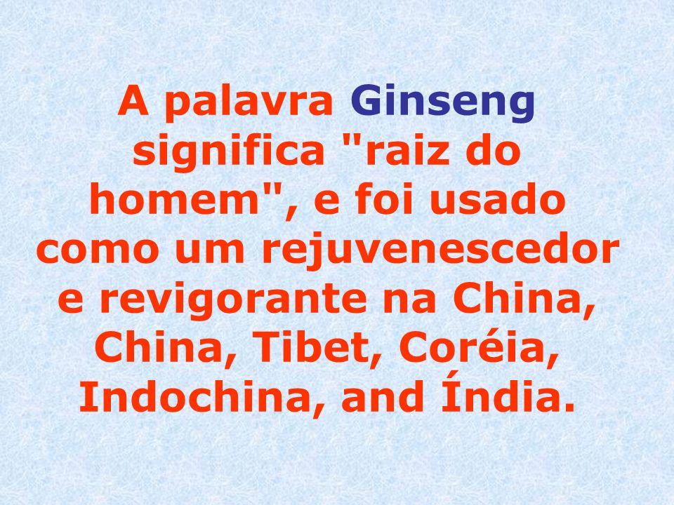A palavra Ginseng significa