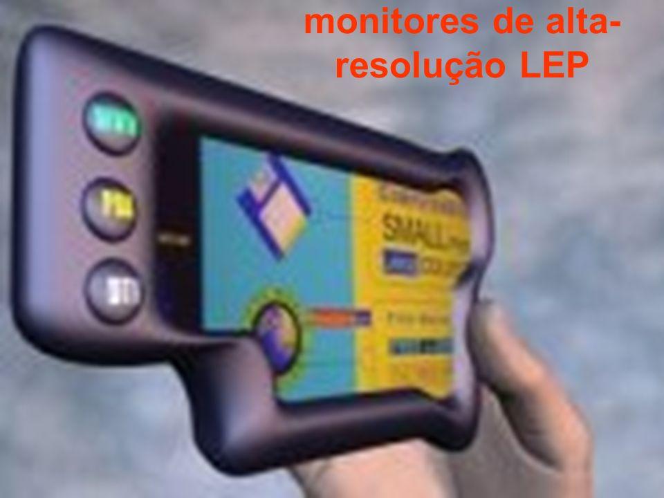 monitores de alta- resolução LEP