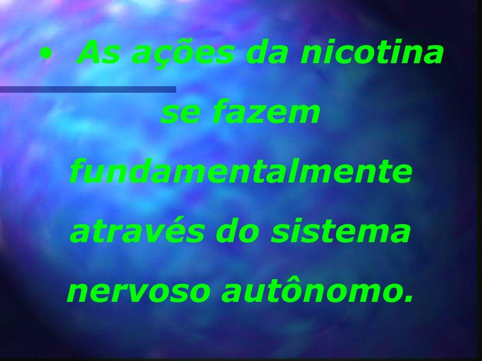 Em baixas concentrações, a nicotina ativa o receptor, que causa a liberação do neurotransmissor glutamato, que é um transmissor excitatório muito impo