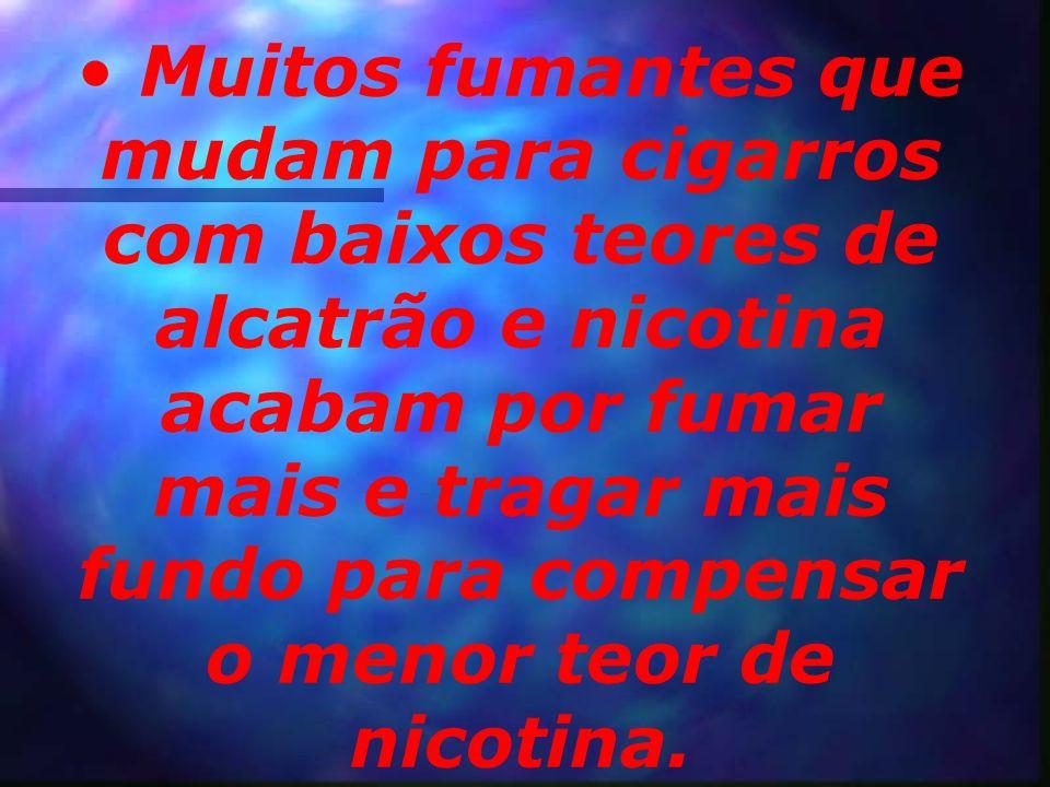 Os cientistas não encontraram nenhum indício de que os cigarros com baixos teores de alcatrão e nicotina diminuam o risco de doença cardíaca coronaria