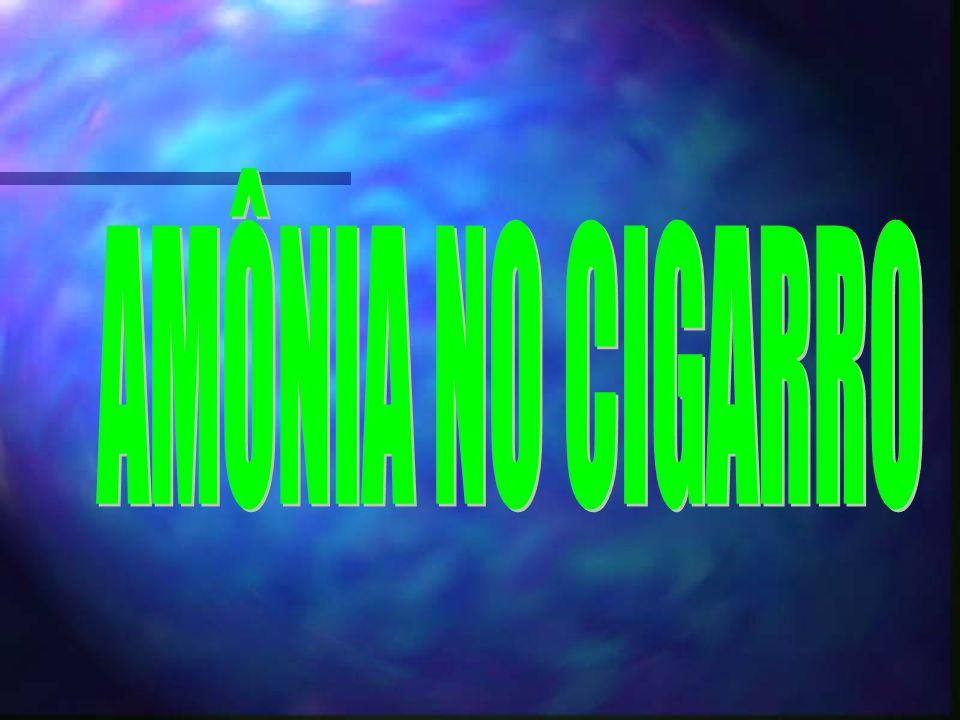 A fumaça do cigarro contém várias substâncias carcinogênicas, como a nornicotina, monóxido de carbono, acroleína, benzeno, tolueno, cresol, fenol, clo
