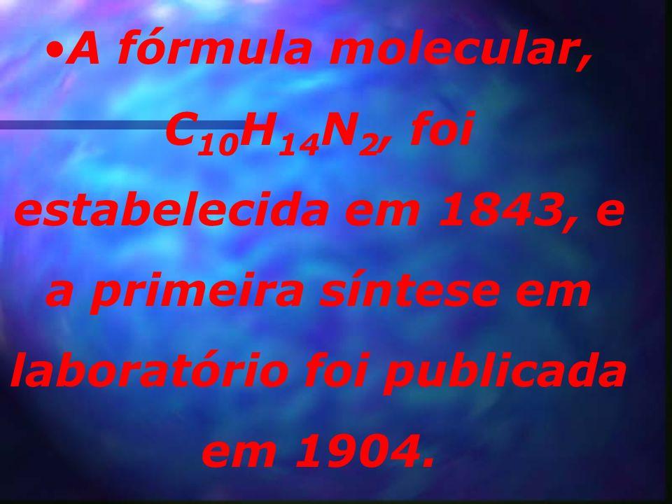 A nicotina em estado bruto já era conhecida em 1571, e o produto purificado foi obtido em 1828.