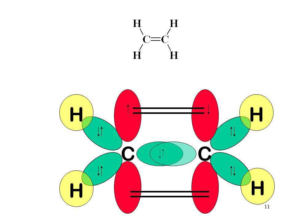 10 C C Observe que a dupla ligação consiste numa ligação do tipo e outra do tipo