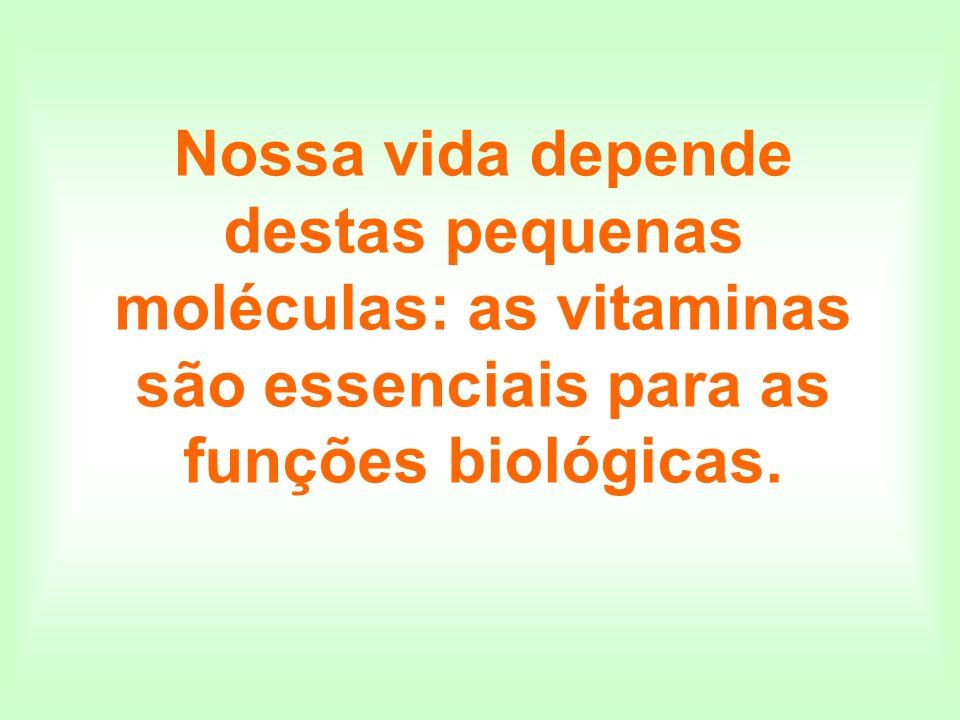 O termo VITAMINA foi utilizado pela primeira vez em 1911, para designar um grupo de substâncias que eram consideradas vitais; todos elas continham o elemento nitrogênio, na forma de aminas.