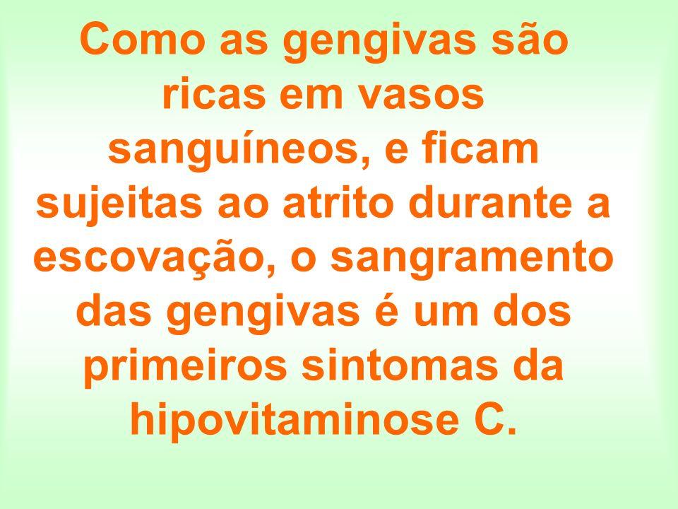 Como as gengivas são ricas em vasos sanguíneos, e ficam sujeitas ao atrito durante a escovação, o sangramento das gengivas é um dos primeiros sintomas