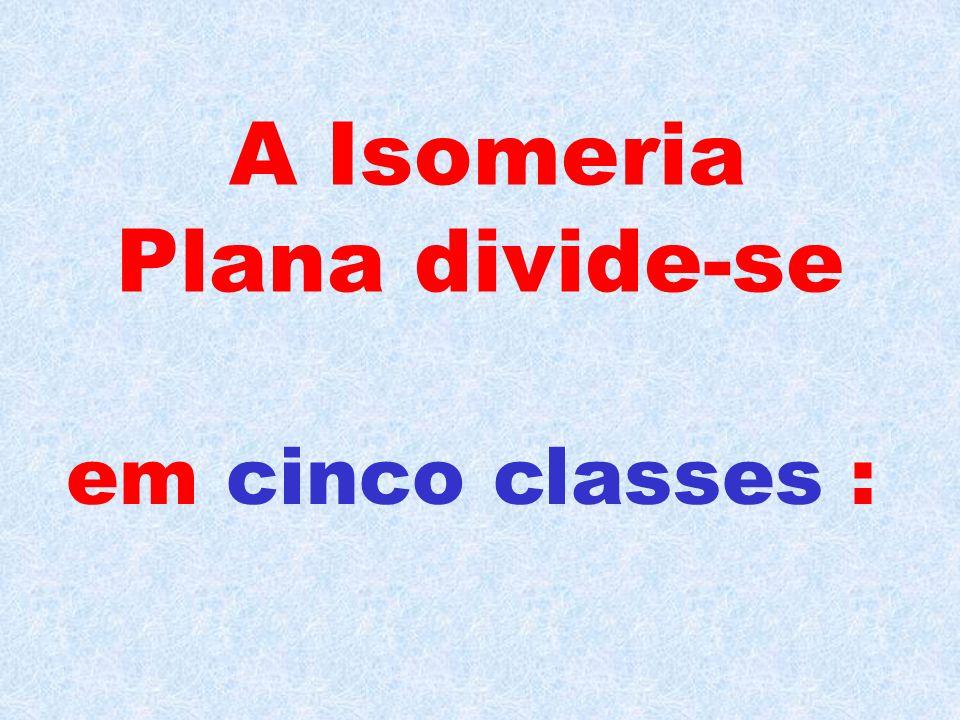 A Isomeria Plana divide-se em cinco classes :