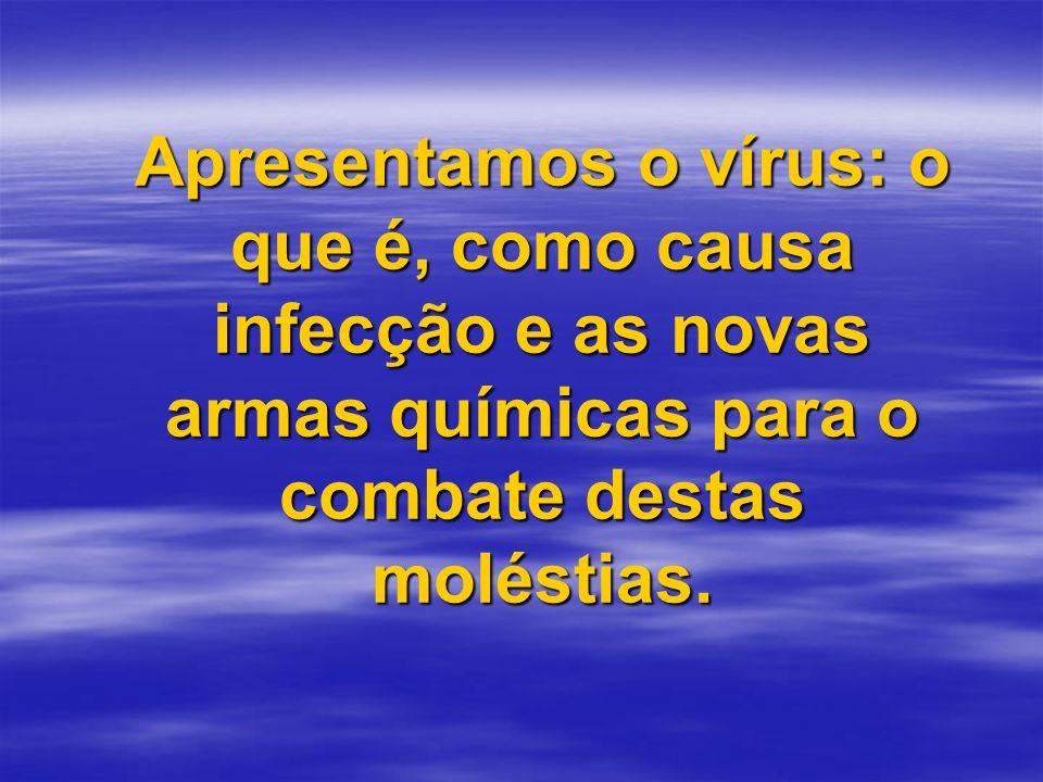 Apresentamos o vírus: o que é, como causa infecção e as novas armas químicas para o combate destas moléstias.