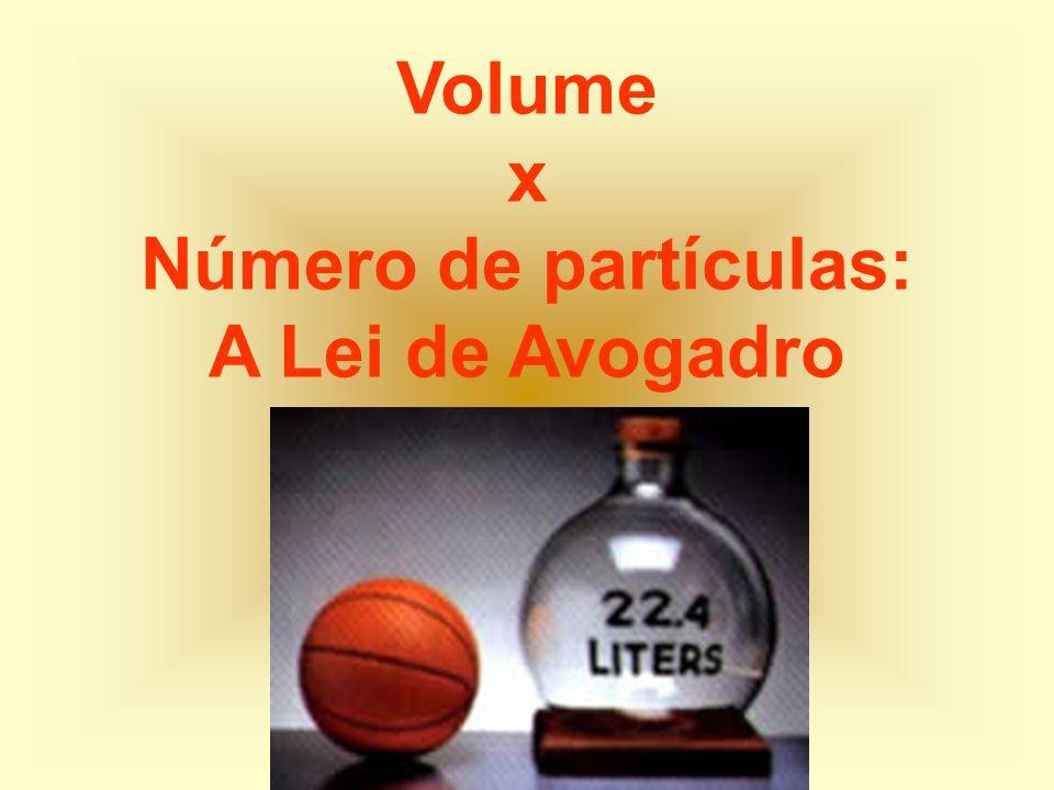 Volume x Número de partículas: A Lei de Avogadro