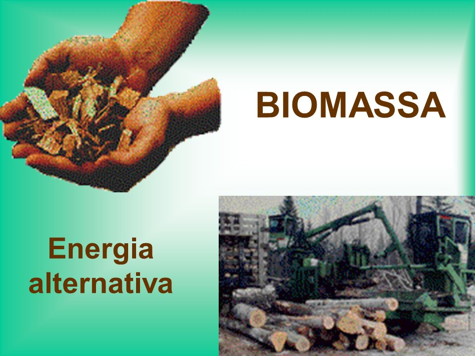 BIOMASSA Energia alternativa