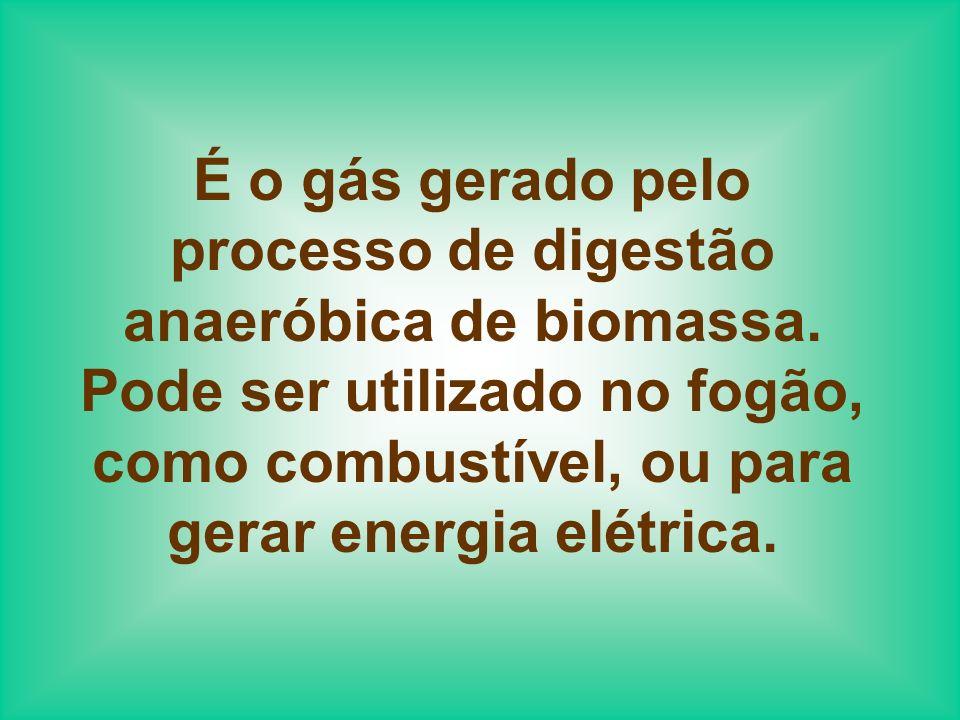 Esquema de como pode ser obtido o biogás, por um processo de digestão anaeróbica.