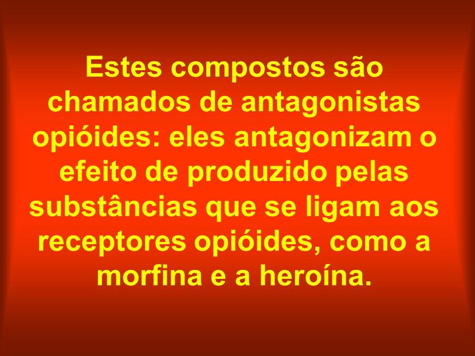 Estes compostos são chamados de antagonistas opióides: eles antagonizam o efeito de produzido pelas substâncias que se ligam aos receptores opióides,