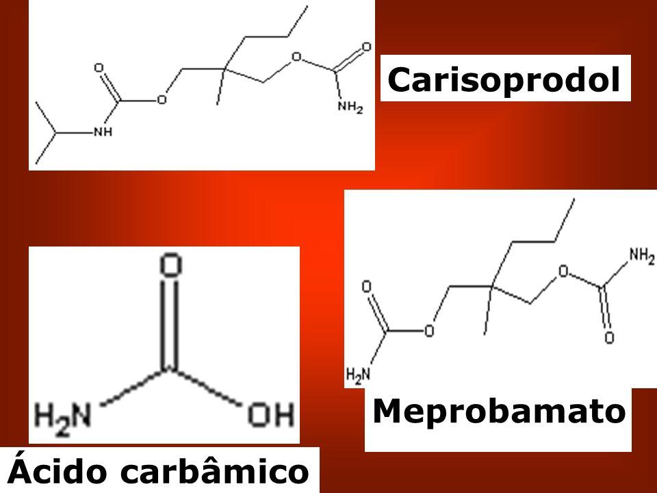 Ácido carbâmico Meprobamato Carisoprodol