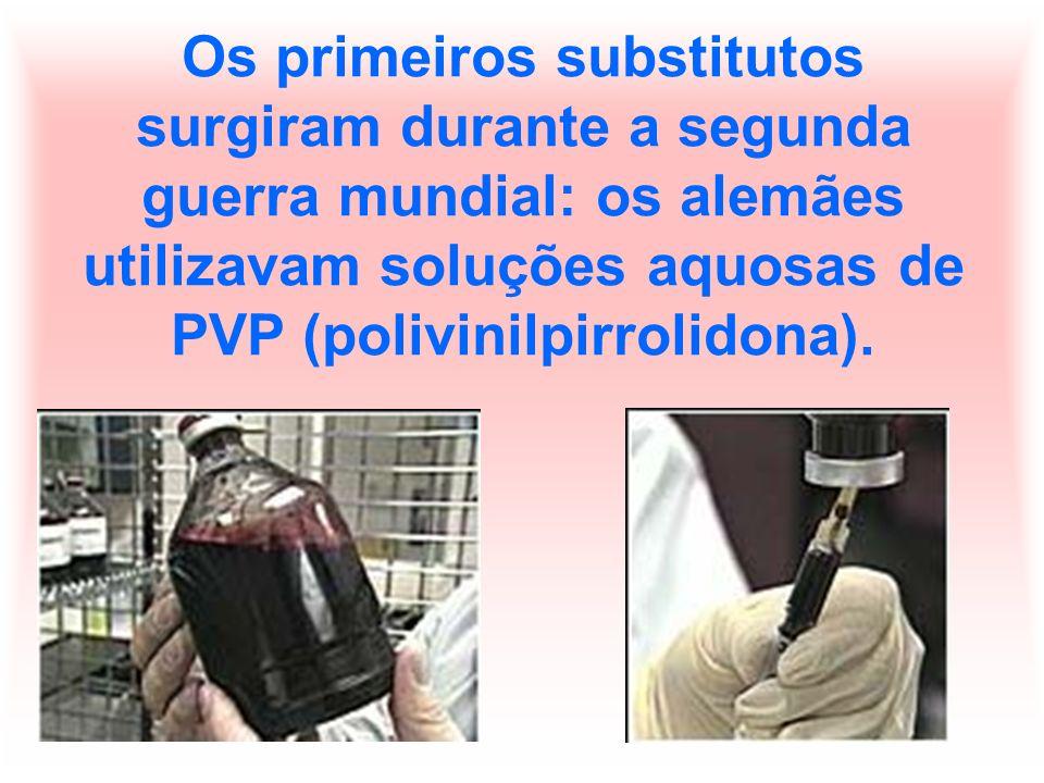 O objetivo era apenas o de manter o volume sanguíneo, uma vez que esta solução não era capaz de transportar oxigênio.