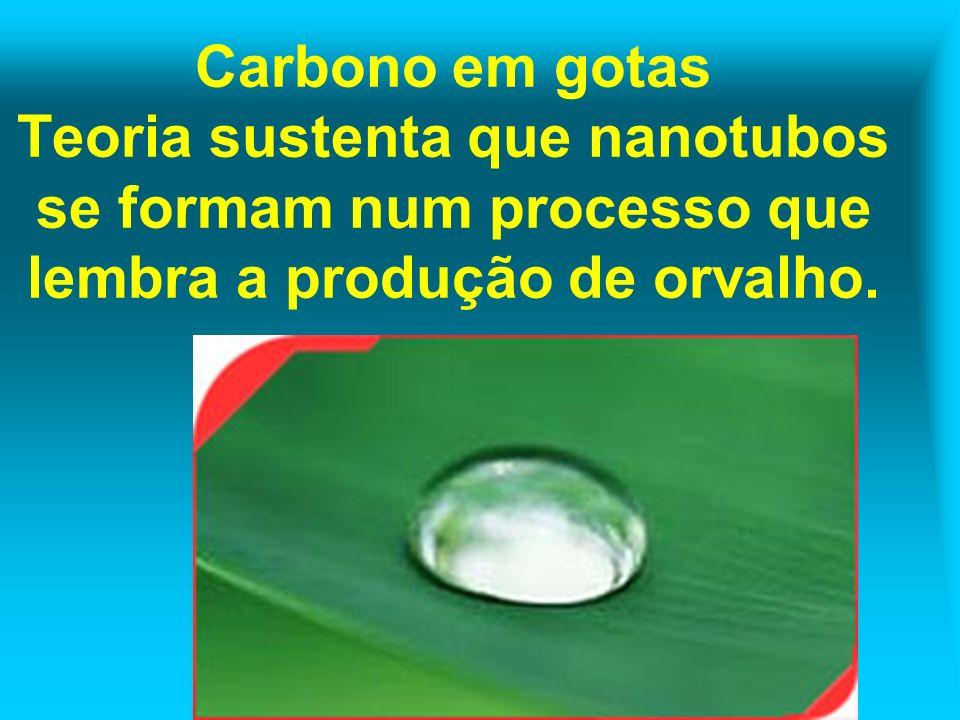 Carbono em gotas Teoria sustenta que nanotubos se formam num processo que lembra a produção de orvalho.