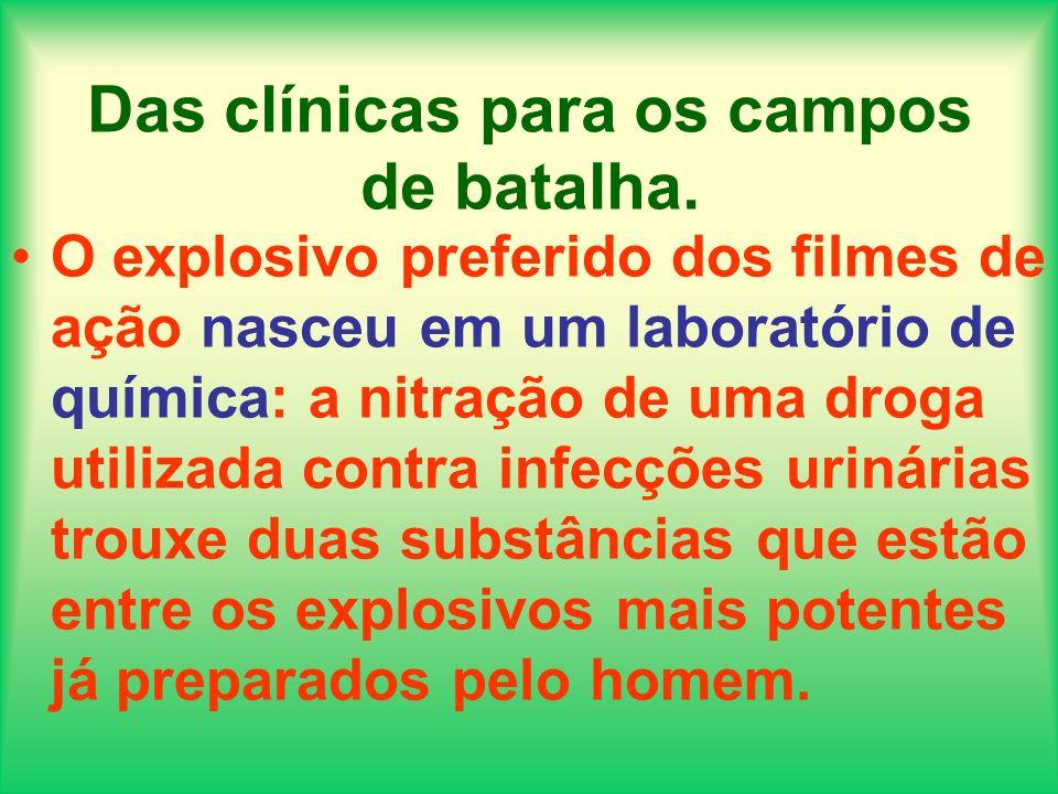 Das clínicas para os campos de batalha. O explosivo preferido dos filmes de ação nasceu em um laboratório de química: a nitração de uma droga utilizad