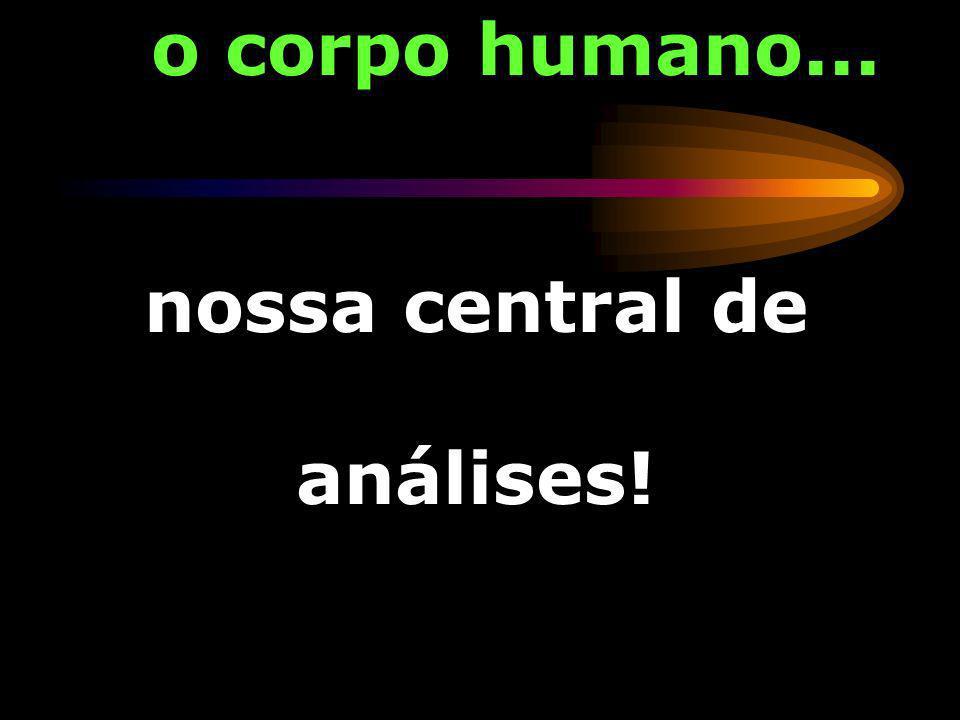 o corpo humano... nossa central de análises!