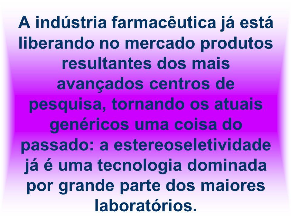 A indústria farmacêutica já está liberando no mercado produtos resultantes dos mais avançados centros de pesquisa, tornando os atuais genéricos uma co