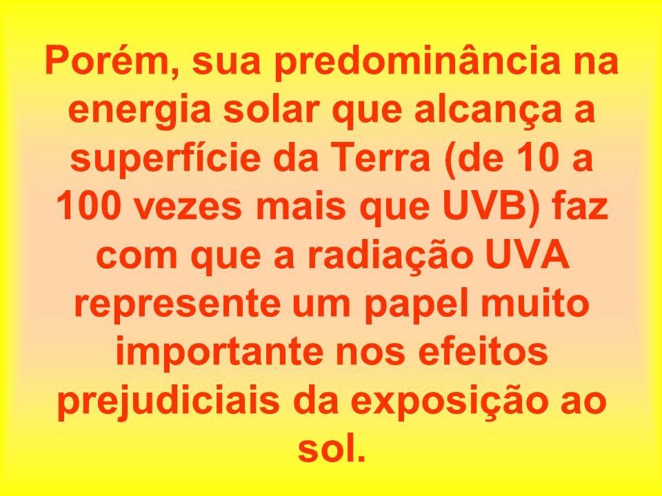 Quem reside em maiores altitudes está sujeito a uma exposição maior à radiação UV.