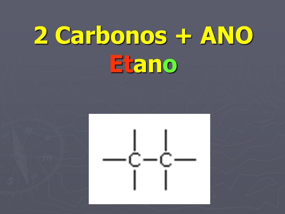 2 Carbonos + ANO Etano