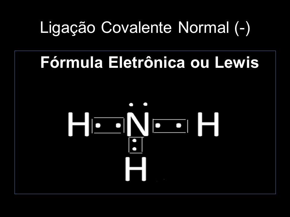 Ligação Covalente Normal (-) Fórmula Estrutural H N H H