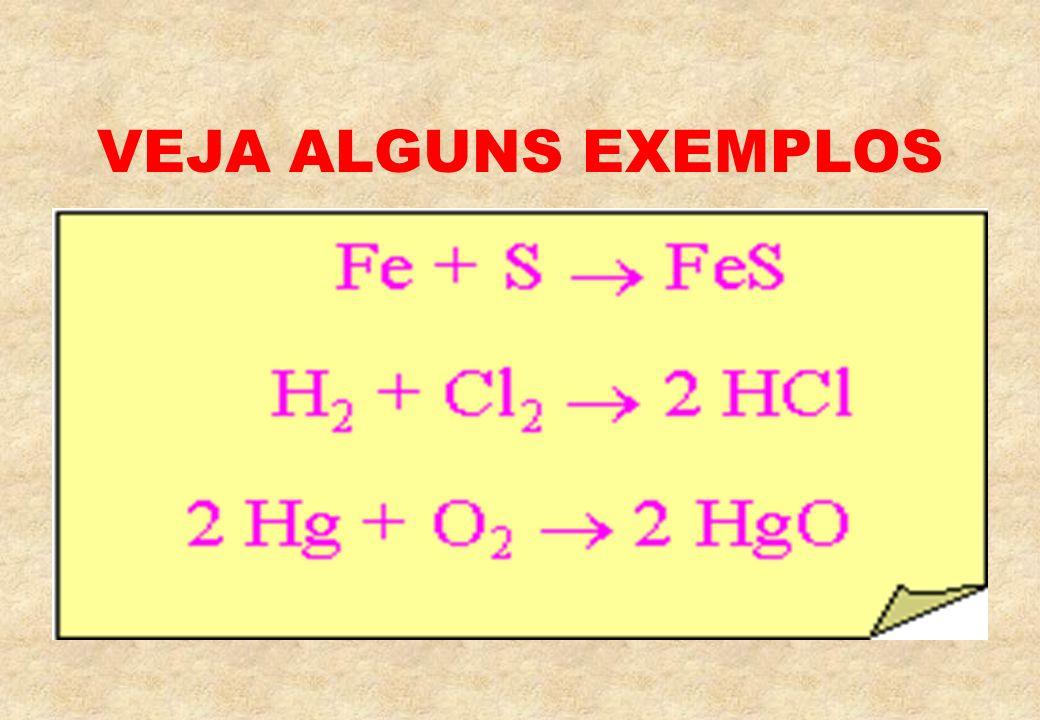 Neste tipo de reação um único composto é obtido a partir de dois compostos. Vamos ver uma ilustração deste tipo de reação!