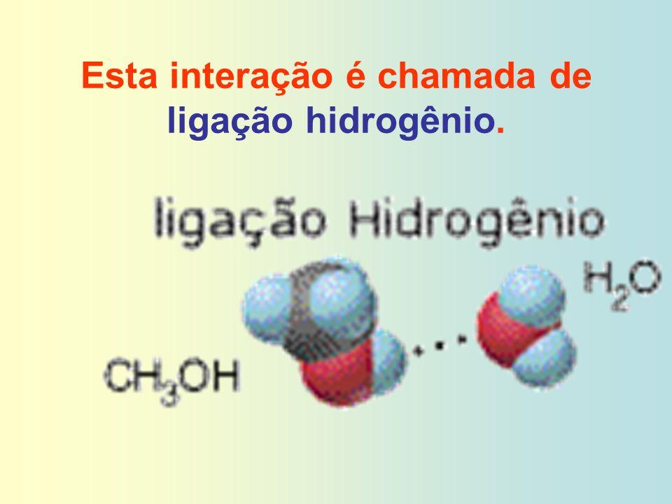 Esta interação é chamada de ligação hidrogênio.