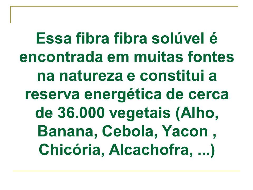 Essa fibra fibra solúvel é encontrada em muitas fontes na natureza e constitui a reserva energética de cerca de 36.000 vegetais (Alho, Banana, Cebola,