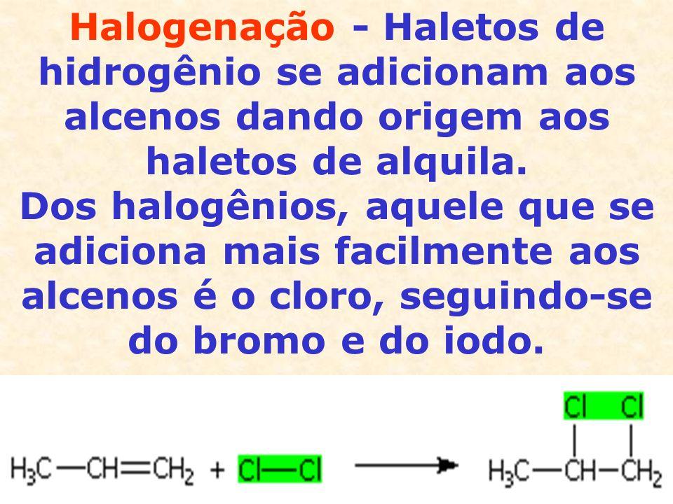 A hidrogenação do ciclopropano forma o propano, constatando-se a abertura do anel.