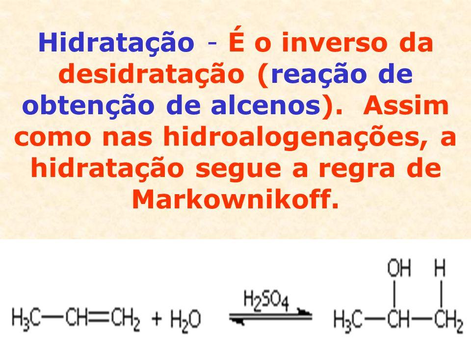 Na presença de peróxidos, há uma inversão à regra de Markownikoff.