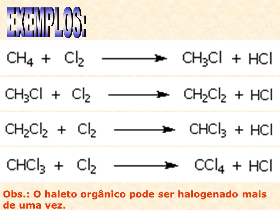 Em moléculas mais complexas, observa-se que o produto formado em maior quantidade é aquele onde a substituição ocorre nos carbonos terciários, depois nos secundários e por último nos primários.